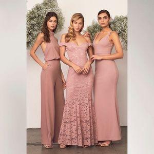 NWOT Lulus Purple Lace Maxi Dress